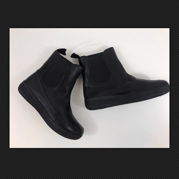 1350cc9d0 New FitFlop Leather Pull On Ankle Boots Sz us 8